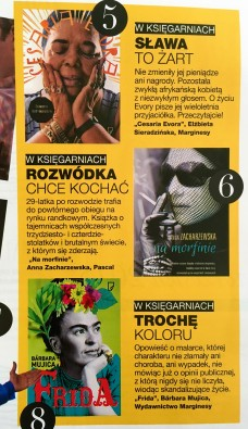 Grazia, wrzesień 2015, recenzja w Grazia Kultura
