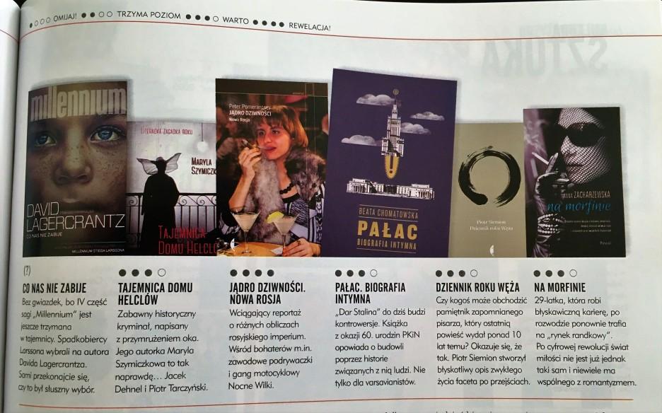 Pani, wrzesień 2015, recenzja w Cafe Kultura Książki