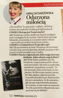 Cosmopolitan, październik 2016, wywiad dla CosmoWeekend