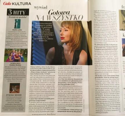 Gala, nr 11/2016, 23 maja 2016, wywiad w Gala Kultura