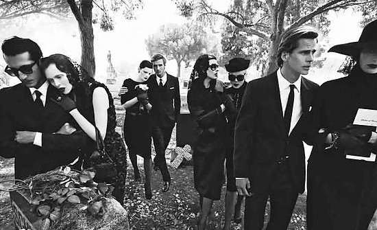 Stylish funeral_YSL